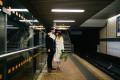 Bride and Groom in underground